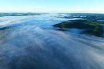 大兴安岭原始森林云雾迷漫