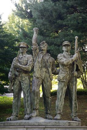 韩国人物雕塑