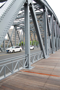 钢结构铁架桥摄影