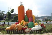 好多蔬菜景观造型