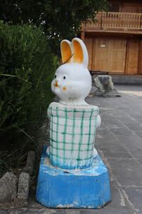 兔子造型垃圾桶
