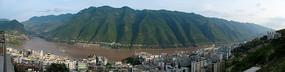 巫山县城全景