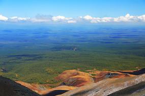 长白山火山地貌森林景观