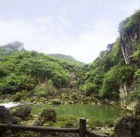 贵州天星桥河谷水潭自然风景
