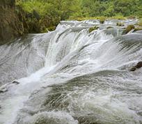 贵州天星桥银练坠瀑布