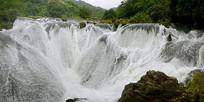 贵州天星桥-银练坠潭瀑布
