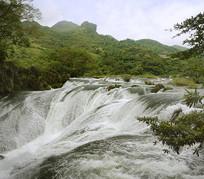 贵州天星桥 银练坠潭瀑布