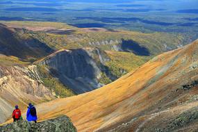 吉林长白山顶峰火山地貌