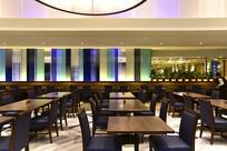 高档酒店的餐桌
