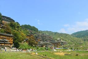 贵州西江千户苗寨田园