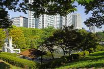 韩国水原仁溪艺术公园俯拍