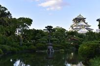 日本大阪城公园的景观