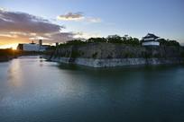 日本大阪城公园的老城墙