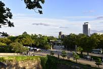 日本大阪城公园景色