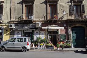 意大利卡塔尼亚街头花店