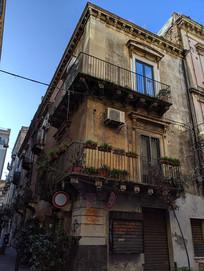 意大利卡塔尼亚民居阳台