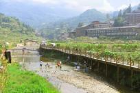 贵州西江千户苗寨及白水河