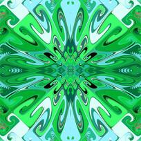 绿色数码印花图案