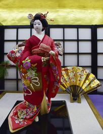 日本艺妓布偶全身像