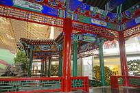 北京机场T3的中式园林建筑
