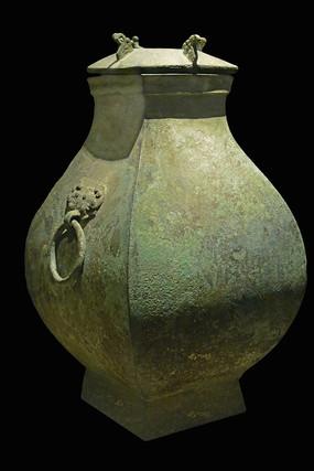 春秋战国青铜器-凤鸟纹铜方壶
