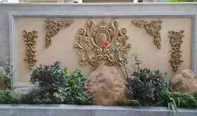 花岗岩石材浮雕背景