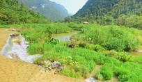 荔波小七孔翠谷湿地自然风景