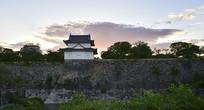 日本大阪城公园的古建筑