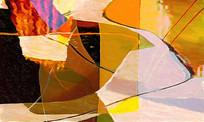 手绘涂鸦抽象油画