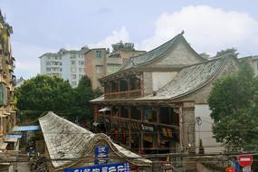 云南建水古城街道俯拍