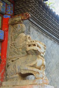 云南建水文庙太和元气牌楼石狮