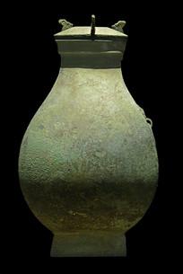战国凤鸟纹铜方壶