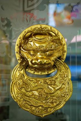 中国元素玻璃门-仿故宫铺首衔环装饰