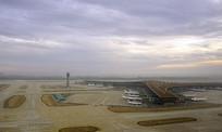 俯拍北京首都国际机场