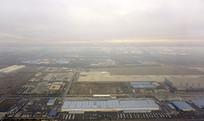 俯拍北京首都国际机场航空港