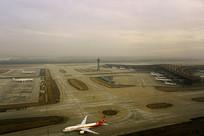 航拍北京首都国际机场T3