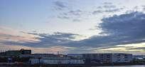 城市上空的云霞
