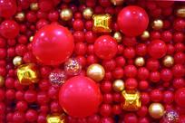 喜庆的红气球背景
