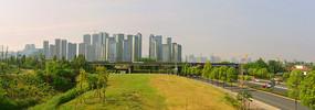 成都桂溪生态公园及复地金融岛