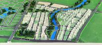成都科学城规划展示-建筑模型