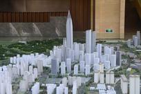 成都科学城展示厅的规划模型