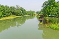 成都西来古镇-临溪河自然风景