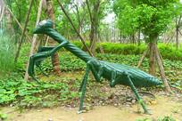 昆虫螳螂景观雕塑