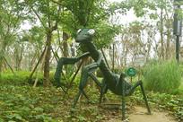 昆虫雕塑-螳螂