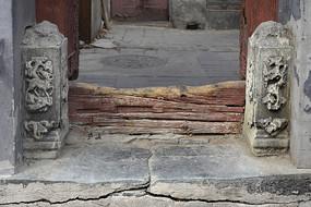 老北京民居门墩