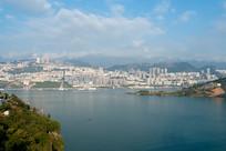 远观巫山县城全景
