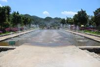 风景区喷水湖