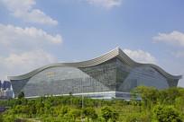 桂溪公园俯拍成都环球中心
