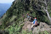 彭州九峰之朱雀峰山脊穿越