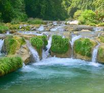贵州荔波小七孔跌水瀑布